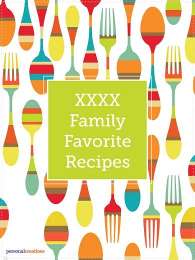 favorite family recipes books make your own personalized family favorite recipes book