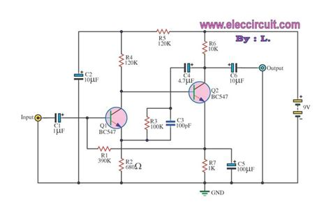 what is the function of bc547 transistor simple pre lifier with transistors bc547 lifier simple