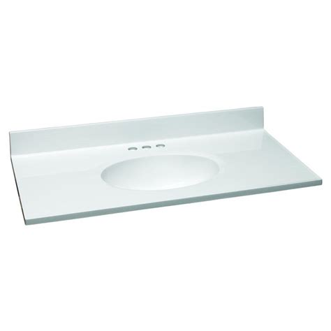 design house vanity top design house 37 in w cultured marble vanity top in white