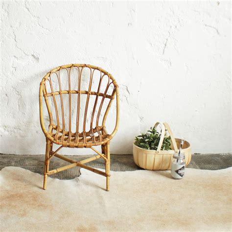 chaise rotin enfant fauteuil rotin enfant vintage atelier du petit parc