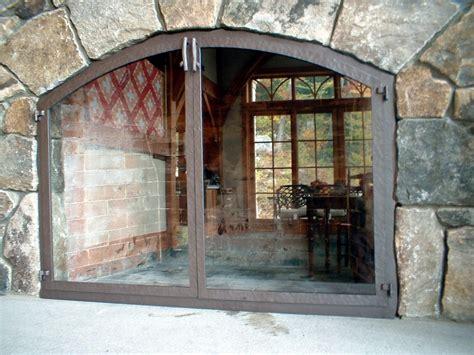 fireplace screen with glass doors various styles of glass door fireplace screens