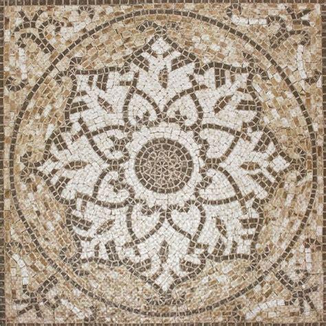 Traditional Kitchen Backsplash sample of 24x24 glazed tuscan madallion ceramic mosaic