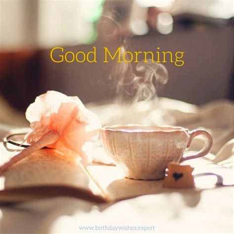 saxy photo good morning good morning with hot tea