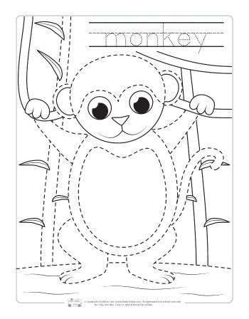 Itsy Bitsy Animals free forest animals coloring pages with traceable facts