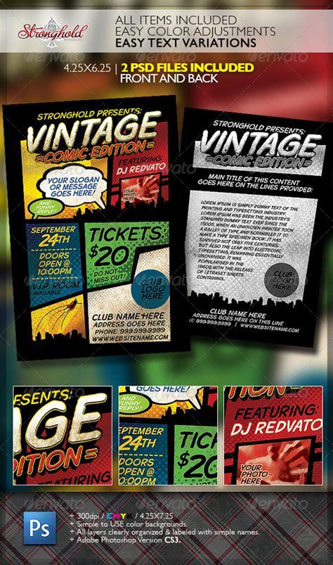 book flyer template vintage comic book event flyer template www moderngentz