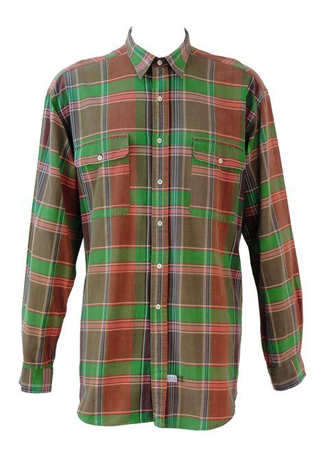 Brown And Green Shirt polo by ralph pink green brown check shirt xl