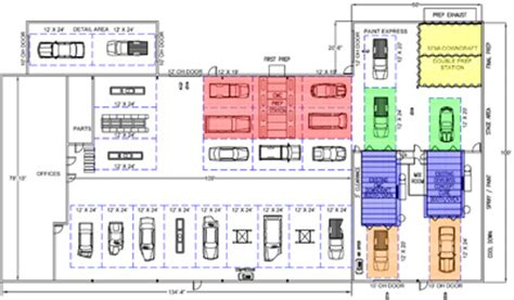 auto body shop floor plans efficiency house plans 3d popular house plans and design