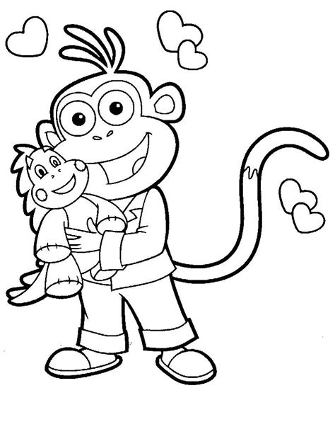 coloring pages dora and diego picture 21