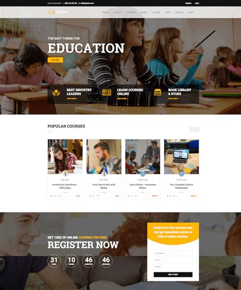 theme education wp 13 best elearning wordpress themes for 2018