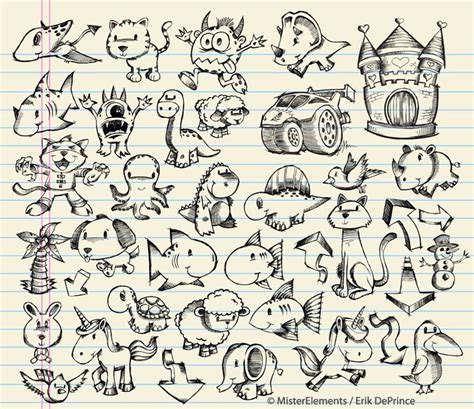 Sketches And Doodles by Animal And Doodle Sketches By Erikdeprince On Deviantart