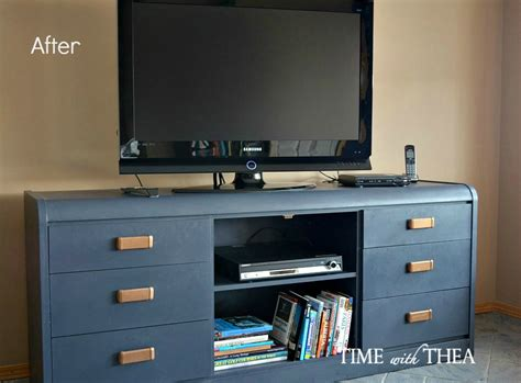 chalk paint tv cabinet hometalk furniture makeover from outdated dresser