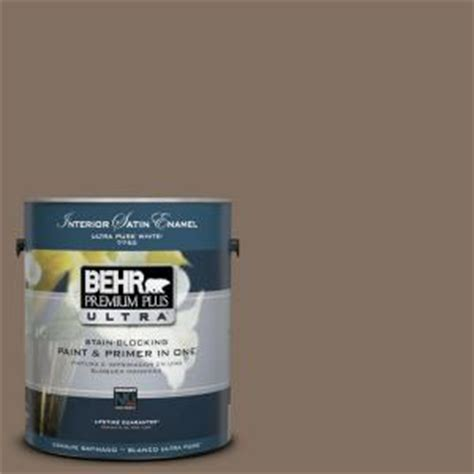 behr premium plus ultra 1 gal ul160 21 mocha latte interior satin enamel paint 775301 the