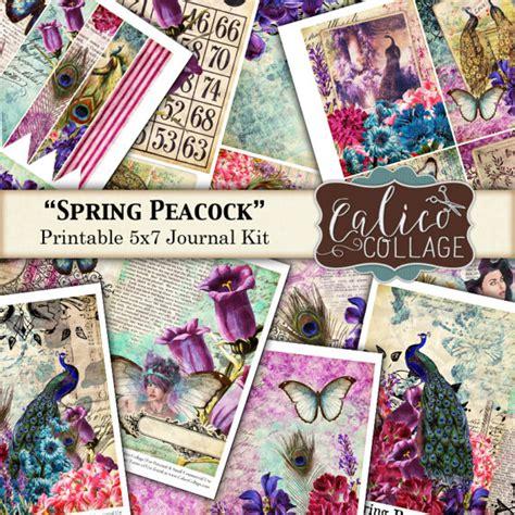 printable journal kits spring peacock printable journal kit printable paper