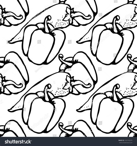 doodle pepper chili pepper and bell pepper doodle