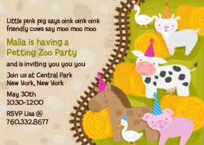 petting zoo birthday invitations candles and favors
