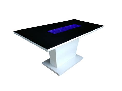 dining table led lights matrix high gloss dining table white black gloss with