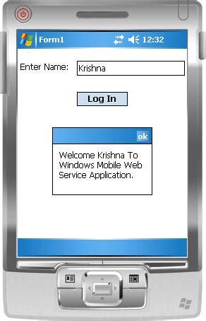 windows mobile application calling web service from windows mobile applicaion using c