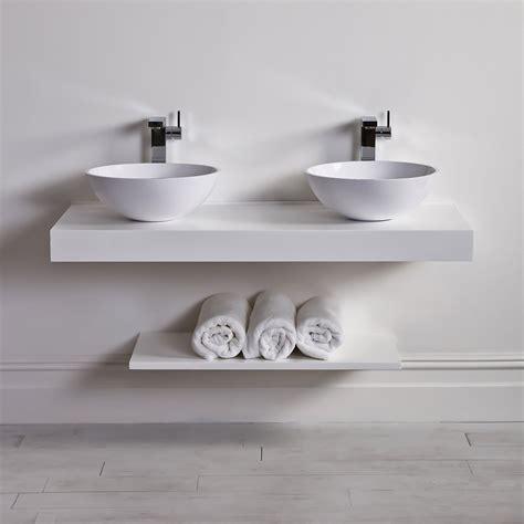 lusso countertop vanity shelf basin shelf