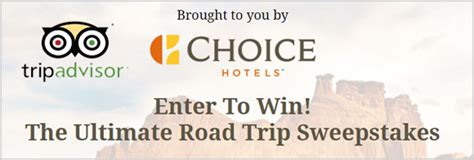 Sweepstakes Advisor - win cash prizes on tripadvisor road trips sweepstakes contestbank
