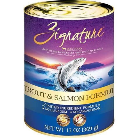 can dogs salmon zignature salmon canned food whitedogbone