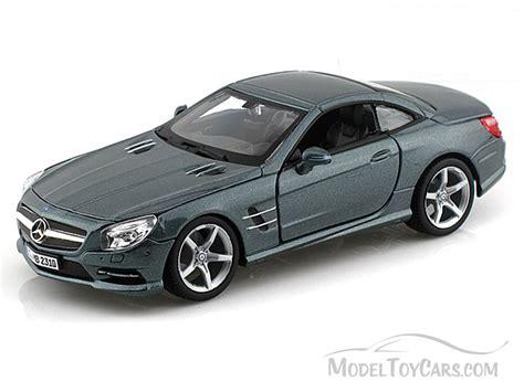 model cars mercedes mercedes sl 500 gray bburago 21067 1 24 scale