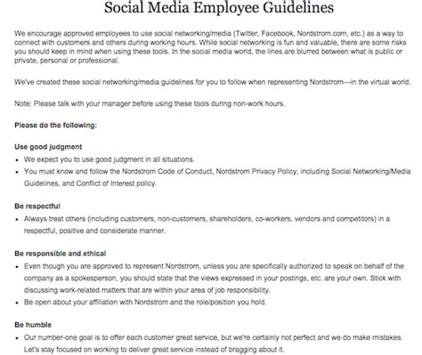 Your Guide To Creating A Social Media Policy Sprout Social Simple Social Media Policy Template