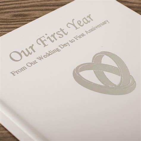 1st Wedding Anniversary Gifts by Personalised Our Year Anniversary Book