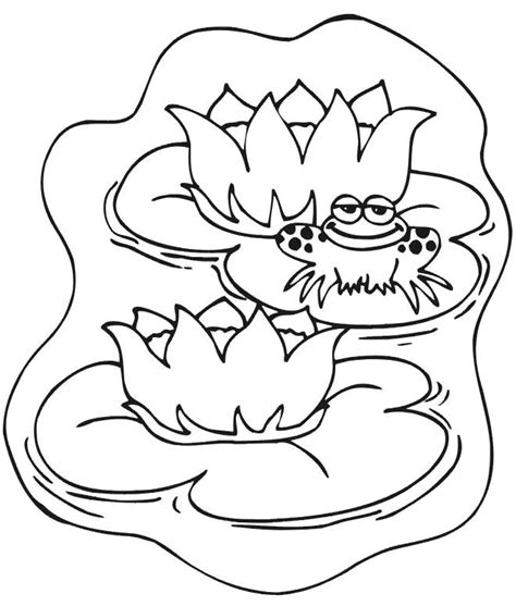 Pond Animal Coloring Pages Images Pond Coloring Page