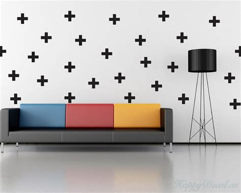 modern nursery wall decals cross pattern wall decal nursery modern vinyl sticker