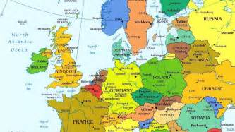 European Cities Map by Map Of Europe Wallpaper Wallpapersafari