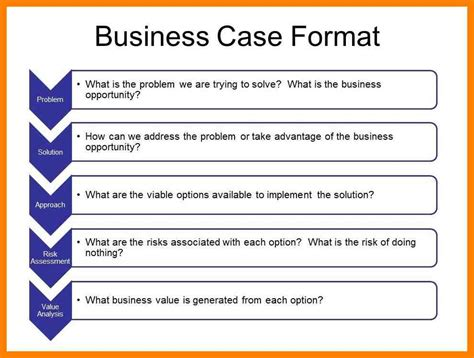 9 business case study template references format