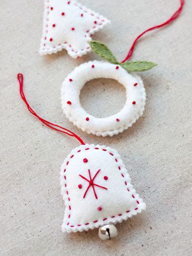 Handmade Felt Craft Patterns - gifts felt ornaments free ornament