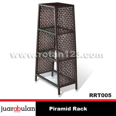Rak Rotan harga jual piramid rack rak rotan sintetis model gambar
