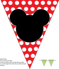 Bunting Flag Happy Birthday Banner Hbd Karakter Mickey Minnie Mouse mickey banner mickey mouse decorations free printable ideas from family shoppingbag