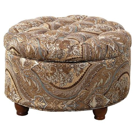 Brown Tufted Ottoman Button Tufted Storage Ottoman Brown Paisle Target