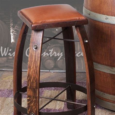 Wine Bar Stools by 2 Day Designs Wine Barrel Bar Stools Or Chocolate