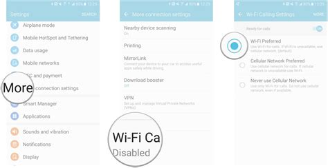 tmobile free wifi how to enable advanced calling features on the samsung