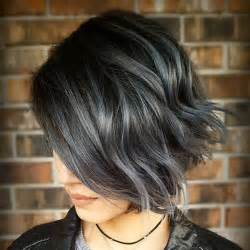 black hair with grey streaks on black 60 most beneficial haircuts for thick hair of any length