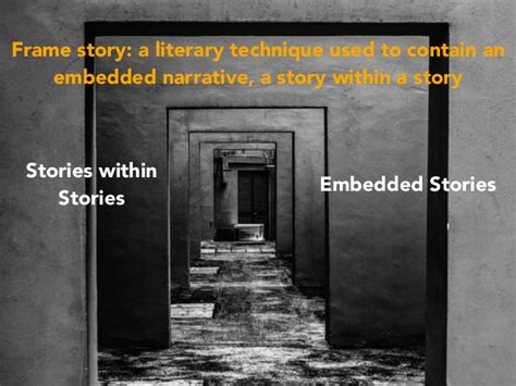 frame narrative frame story a literary technique