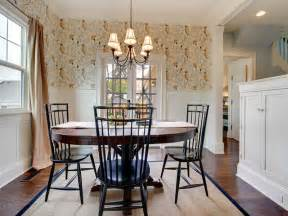 Wallpaper Dining Room Ideas by Bloombety Farmhouse Dining Room Wallpaper Design Ideas