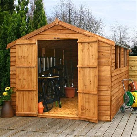 Www Waltons Co Uk Garden Sheds by 12 X 8 Waltons Overlap Apex Wooden Shed