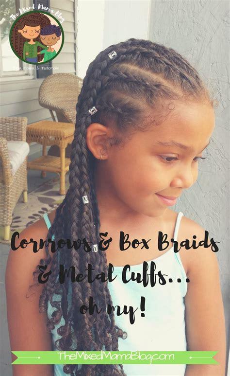 beautiful protective style  cornrows box braids