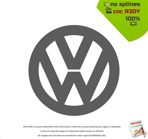 volkswagen logo vector free dxf files for cnc machines vw logo free download