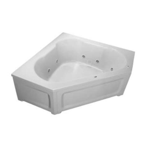 ferguson bathtubs pfw6060skplabs 60 quot corner whirlpool bath biscuit at shop