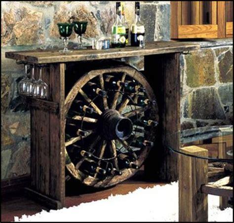 this wagon wheel wine rack it living the