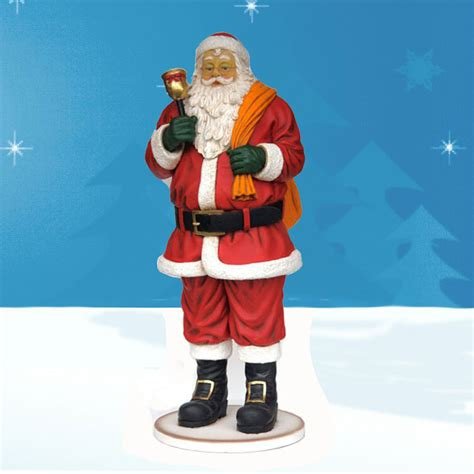 size santa 66 quot yab designs outdoor santa decoration with bell