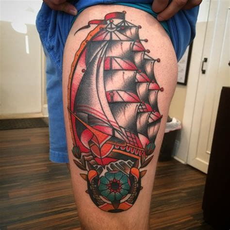 clipper ship tattoo classic tattoos