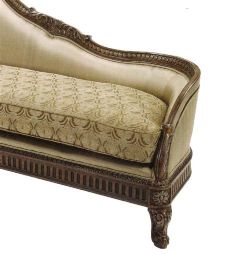traditional chaise bt 076 traditional chaise lounge in walnut accent seating