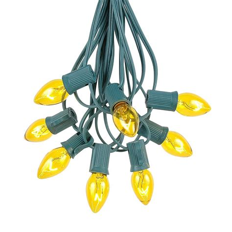 Yellow Gold C7 Outdoor Christmas String Light Sets String Light Sets