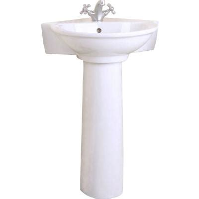 corner bathroom sink home depot pegasus evolution corner pedestal combo bathroom sink in